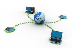 与地球的网络 免版税图库摄影