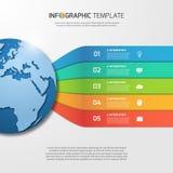 与地球的Infographic模板图表的,图,图 免版税库存图片