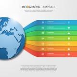 与地球的Infographic模板图表的,图,图 库存图片
