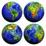 与地球纹理的橄榄球 库存图片