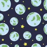 与地球2的无缝的纹理 库存图片