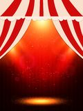 与场面和聚光灯的海报模板 presentati的设计 库存照片