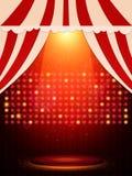 与场面和聚光灯的海报模板 presentati的设计 免版税图库摄影
