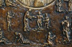 与场面的低音安心从圣徒真福加尔各答的德肋撒生活  库存图片