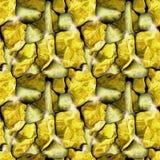 与块金的无缝的安心石头样式 免版税库存照片