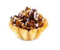 与坚果和甜点的脆饼蛋糕 免版税图库摄影