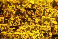 与坚果的传统土耳其快乐糖 免版税库存照片