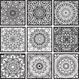 与坛场的五颜六色的花卉种族无缝的样式 向量例证