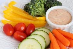 与垂度的未加工的蔬菜 免版税库存照片