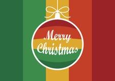 与垂悬的圣诞节球传染媒介的色的假日背景 库存例证
