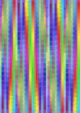 与垂直小条的彩虹荧光的pixelated背景在生动的颜色,多彩多姿的高不同的传染媒介摘要backg 库存例证