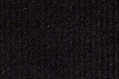 与垂直条纹的黑纸纹理背景 免版税图库摄影