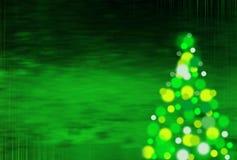 与垂直条纹的绿色圣诞节背景 库存图片