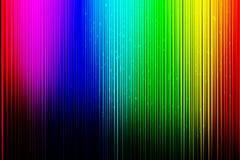 与垂直线的五颜六色的背景在黑梯度背景 皇族释放例证
