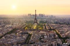 与埃佛尔铁塔,法国的巴黎地平线 免版税图库摄影