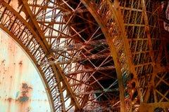 与埃佛尔铁塔10的生锈的背景 免版税库存照片