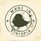 与埃塞俄比亚的地图的邮票 向量例证