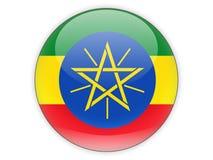 与埃塞俄比亚的旗子的圆的象 库存例证