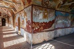 与基督的复活教会壁画的内部Ros的 库存图片