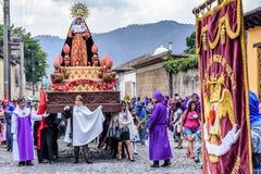 与基督,安提瓜岛,顾的玛丽母亲的圣洁星期四队伍 库存照片