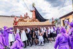 与基督,安提瓜岛,顾的玛丽母亲的圣洁星期四队伍 免版税图库摄影