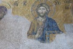 与基督Pantocrator的表示法的马赛克 Hagia Soph 免版税库存图片