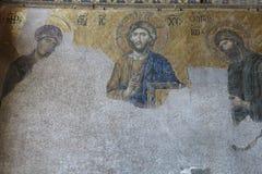 与基督Pantocrator的表示法的马赛克 Hagia Soph 库存图片