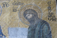 与基督Pantocrator的表示法的马赛克 Hagia Soph 库存照片