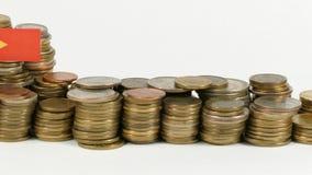 与堆的东帝汶旗子金钱硬币 股票视频