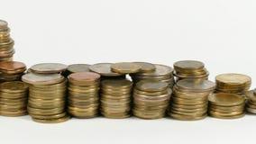 与堆的乌兹别克斯坦旗子金钱硬币 股票录像
