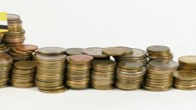 与堆的文莱旗子金钱硬币 股票视频