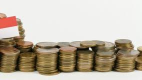 与堆的新加坡旗子金钱硬币 股票录像