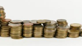 与堆的纳米比亚旗子金钱硬币 股票录像