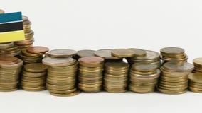 与堆的莫桑比克旗子金钱硬币 股票录像