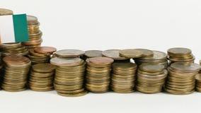与堆的象牙海岸旗子金钱硬币 股票录像