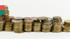 与堆的马达加斯加旗子金钱硬币 股票录像