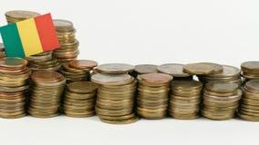 与堆的马里旗子金钱硬币 股票视频