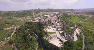 与堡垒和城堡的空中旅行的运动 股票录像