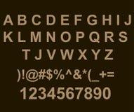 与墙壁砖纹理的ABC 免版税图库摄影