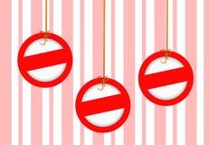 与墙纸的圣诞节装饰 免版税库存照片