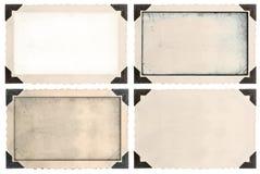 与壁角和空的领域的照片框架 免版税图库摄影