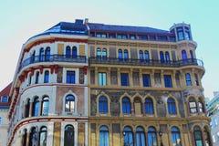 与壁画-维也纳的巴洛克式的大厦 库存照片