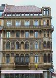 与壁画-维也纳的巴洛克式的大厦 库存图片