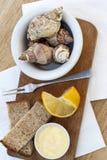 与壳的早午餐 免版税图库摄影