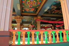 与复杂细节的美丽的图画在Sri西瓦Subramaniya寺庙,斐济里面, 2015年 免版税库存图片