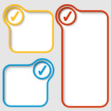 与复选框的语篇框架图 免版税库存图片