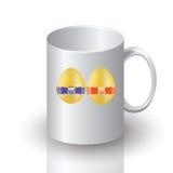 复活节杯子 库存例证