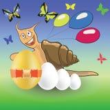 复活节蜗牛 库存例证