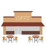 与夏天大阳台的咖啡馆 库存图片