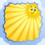 与夏天题材5的多云框架 免版税库存照片
